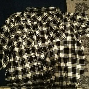 Black and grey flannel shirt
